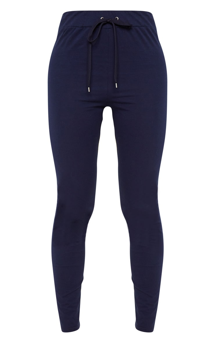Navy Drawstring Cotton Legging 3