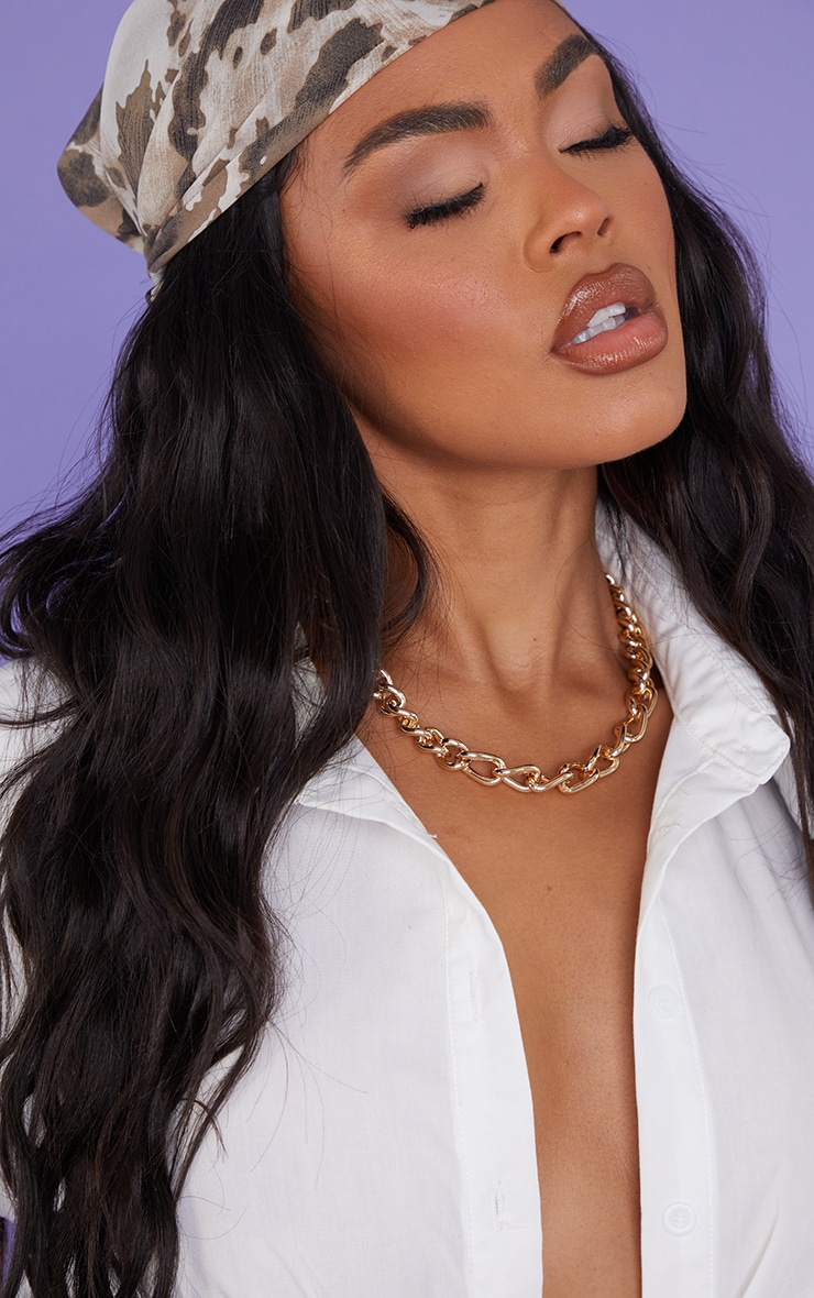 Gold Assorted Curb Chain Necklace 1