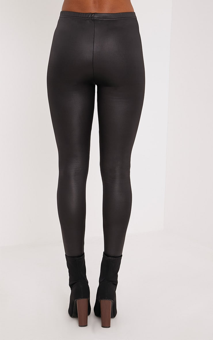 Savannah leggings noirs en vinyle 4