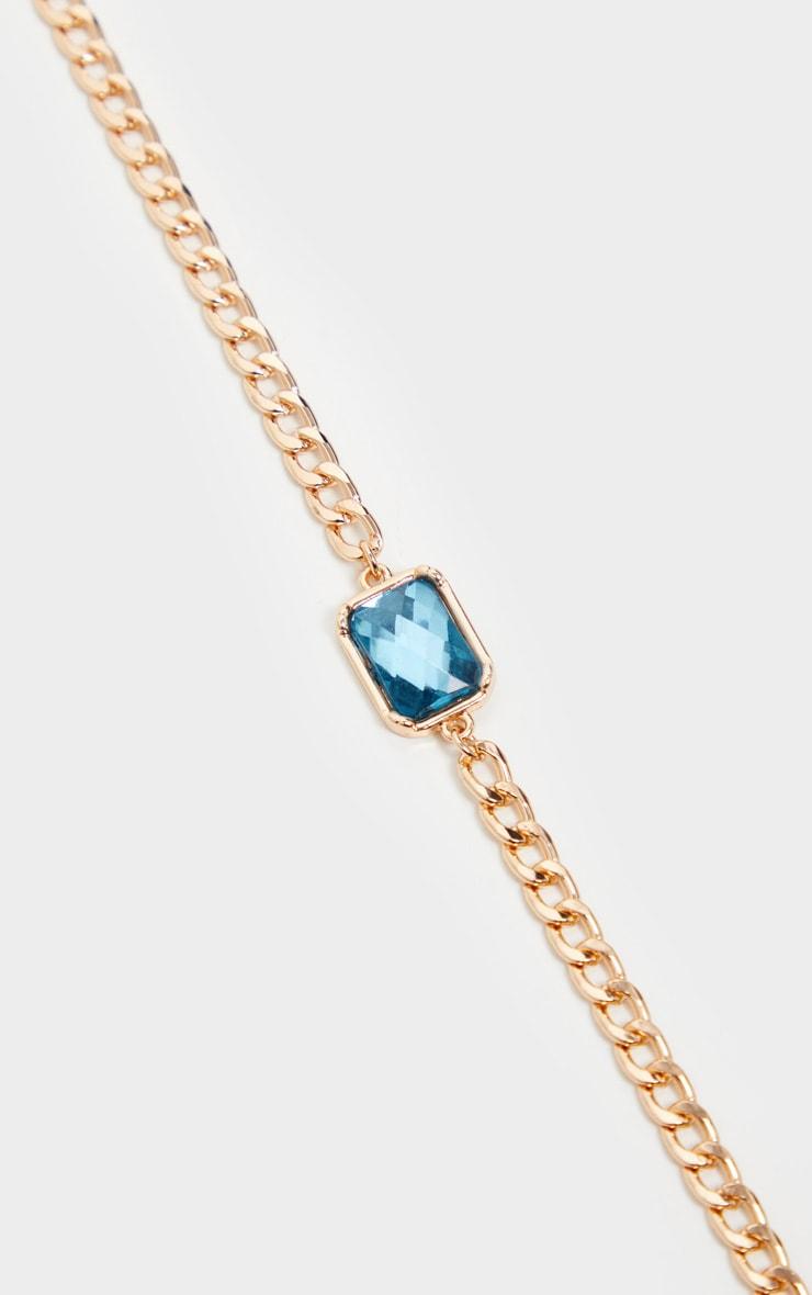 Gold Chain Turquoise Stone Choker 3