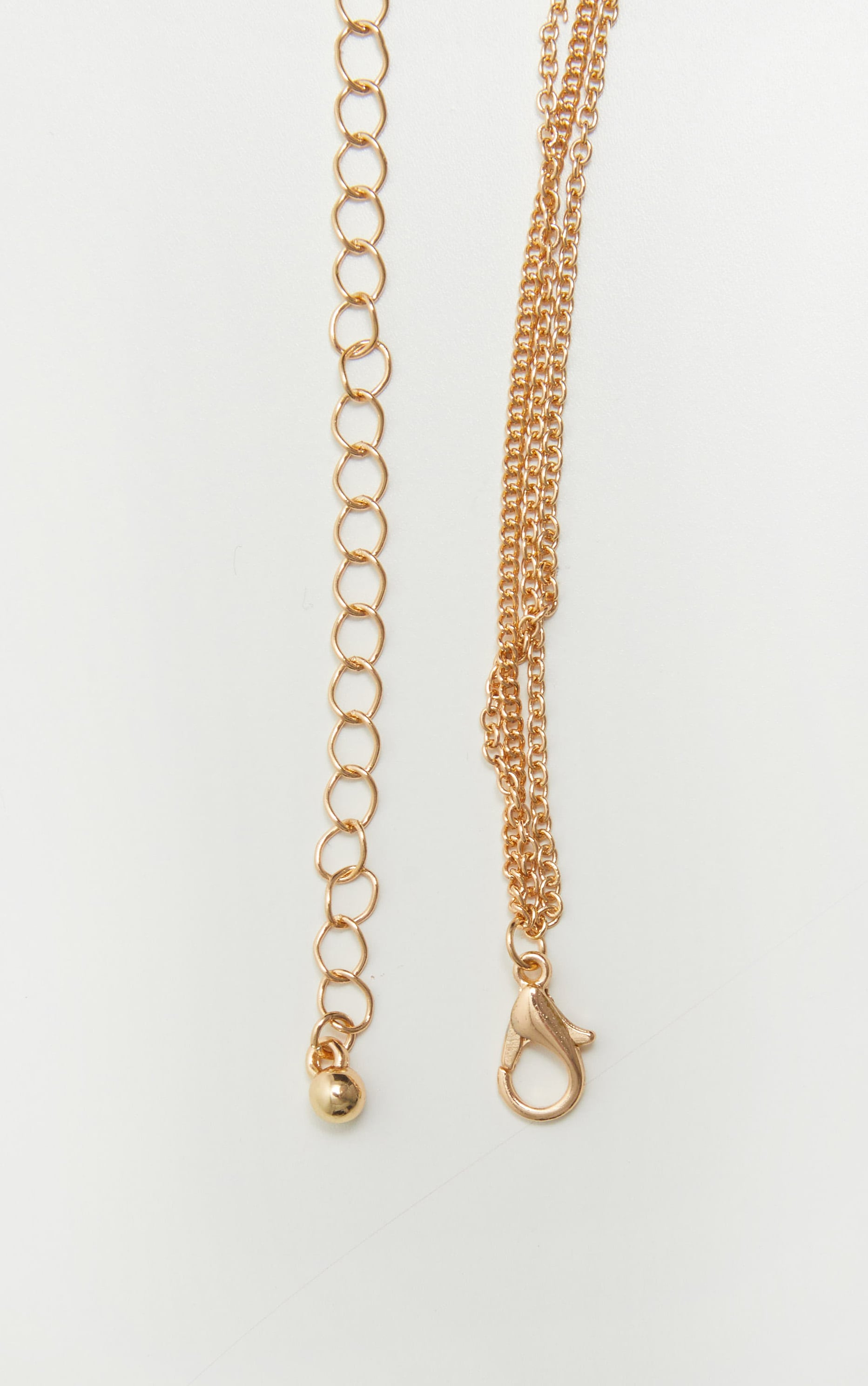 Gold Wish Coin Layered Necklace 4