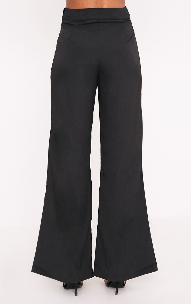 Kenna Black Belted D Ring Trousers 4