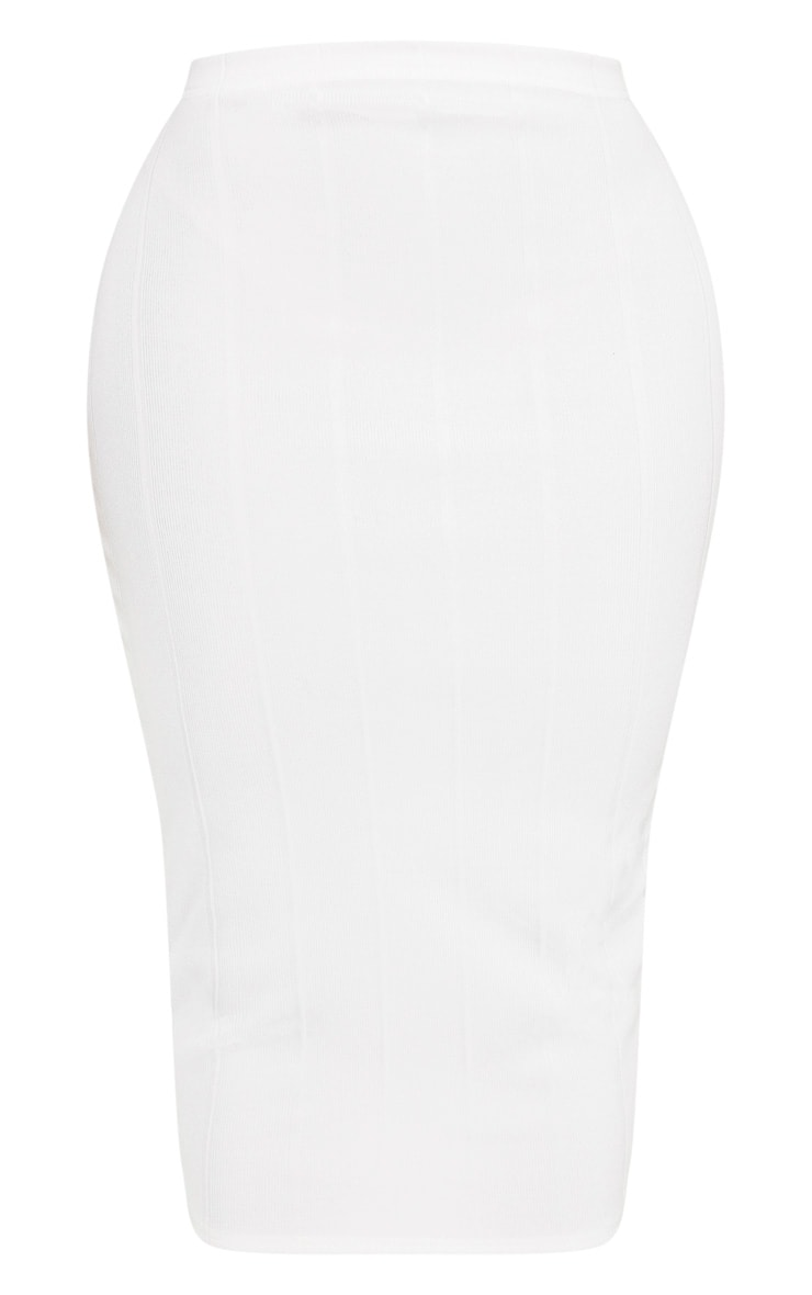 Shape Cream Bandage High Waisted Midi Skirt 3