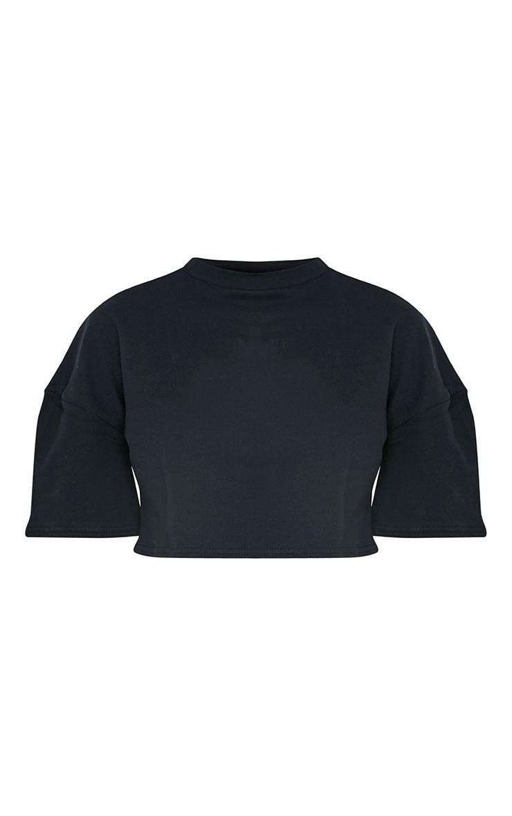 Elna Black Boxy Shortsleeve Crop Sweater 3