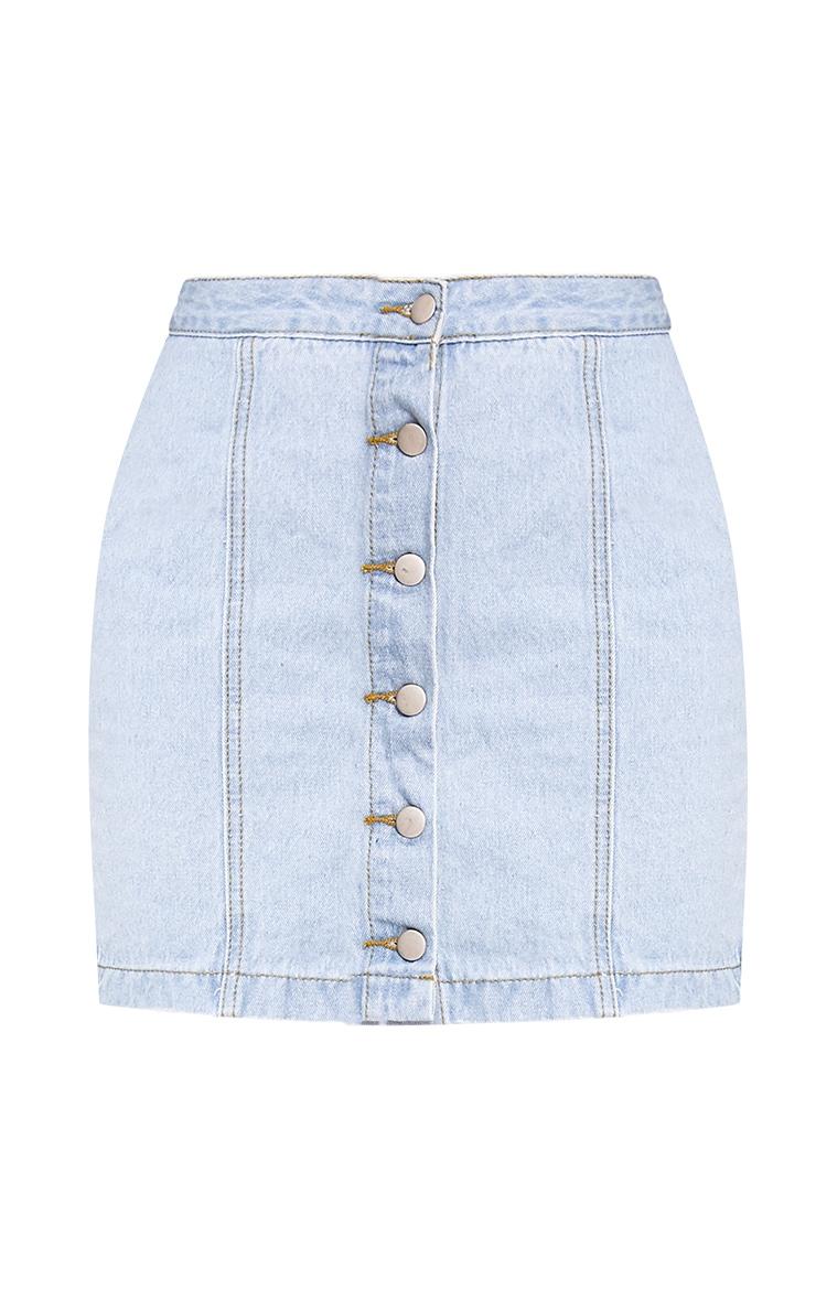 Cammie Light Wash Mini Skirt 3