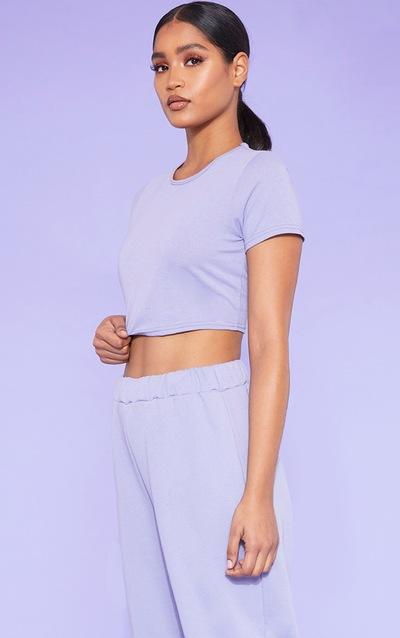 915a9fb9e2d RECYCLED Violet Crop T Shirt