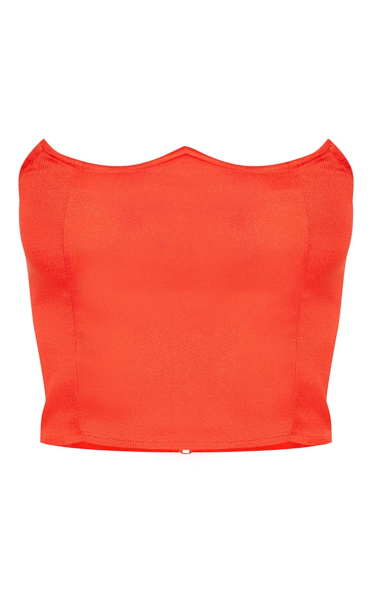 Red Wired Bandeau Crop Top  3