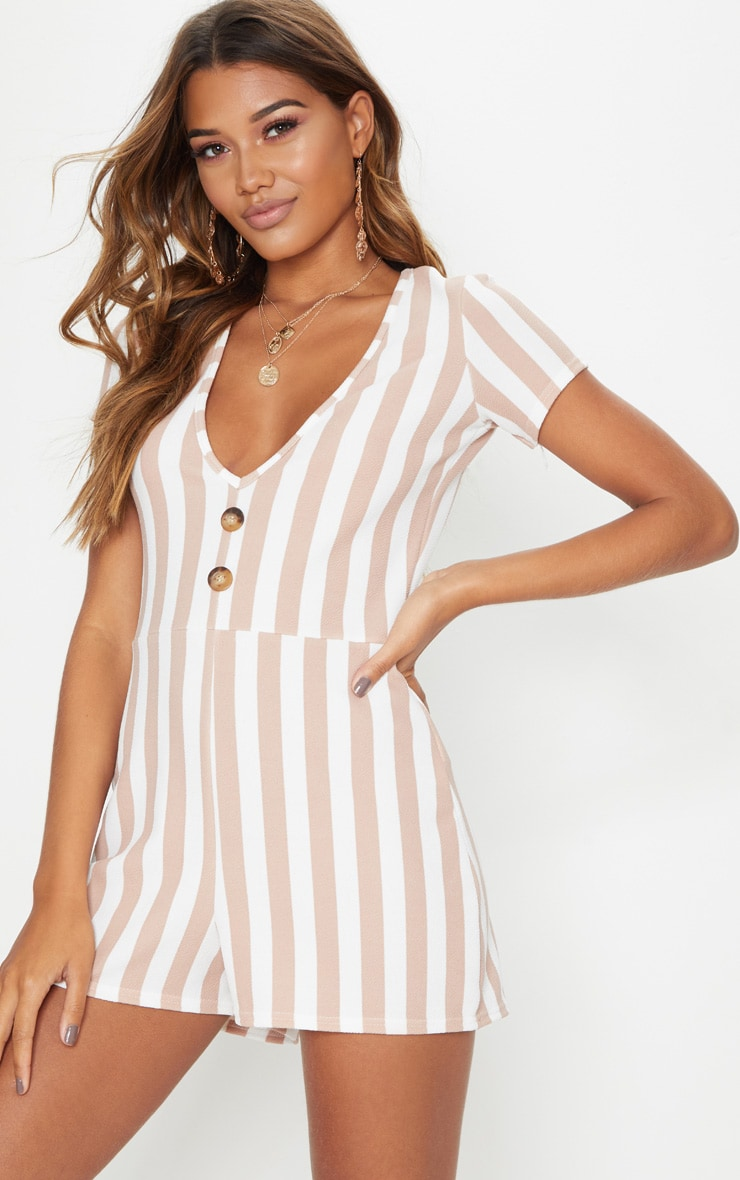 Stone Stripe Tortoise Shell Playsuit 1