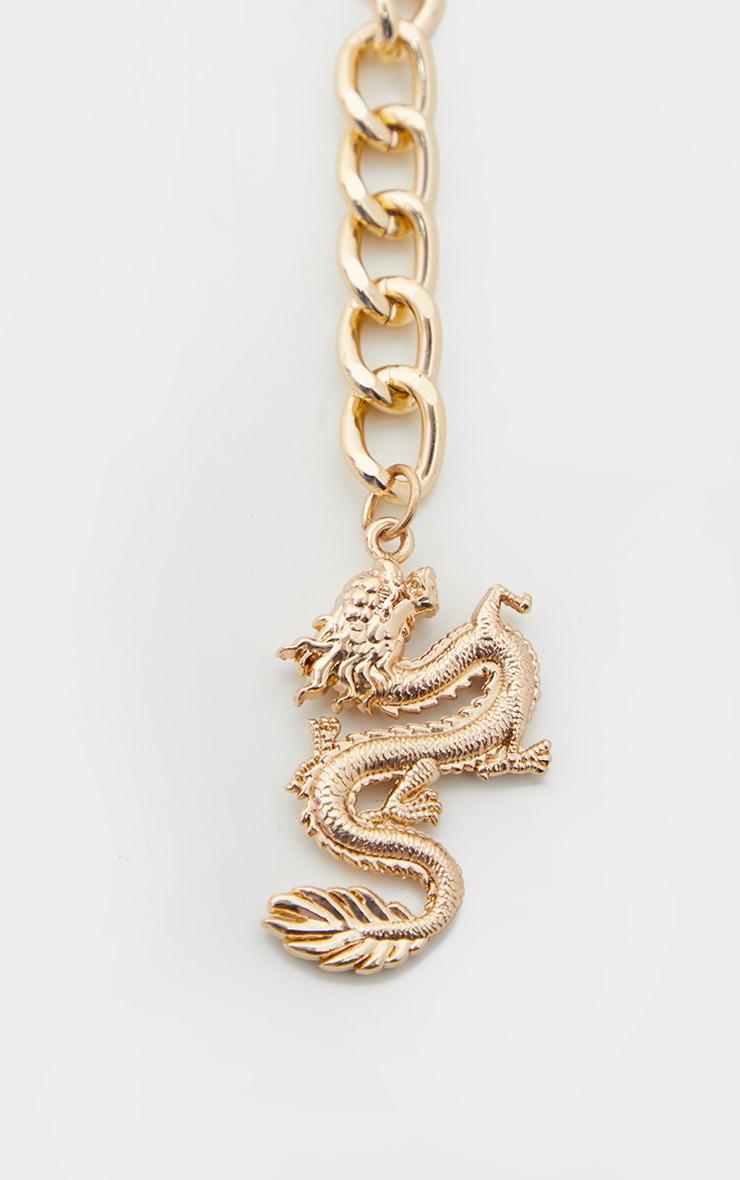 Gold Dragon Pendant Chain Belt 4