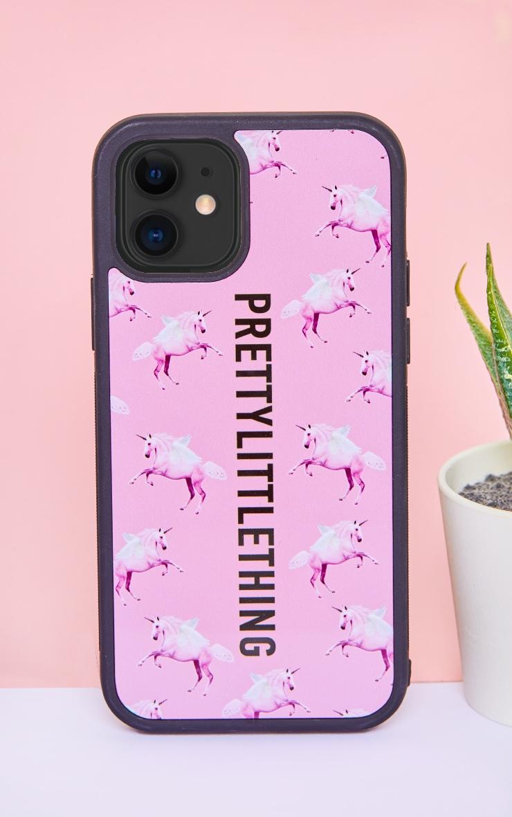 PRETTYLITTLETHING Unicorn Pink iPhone 12 Phone Case 1