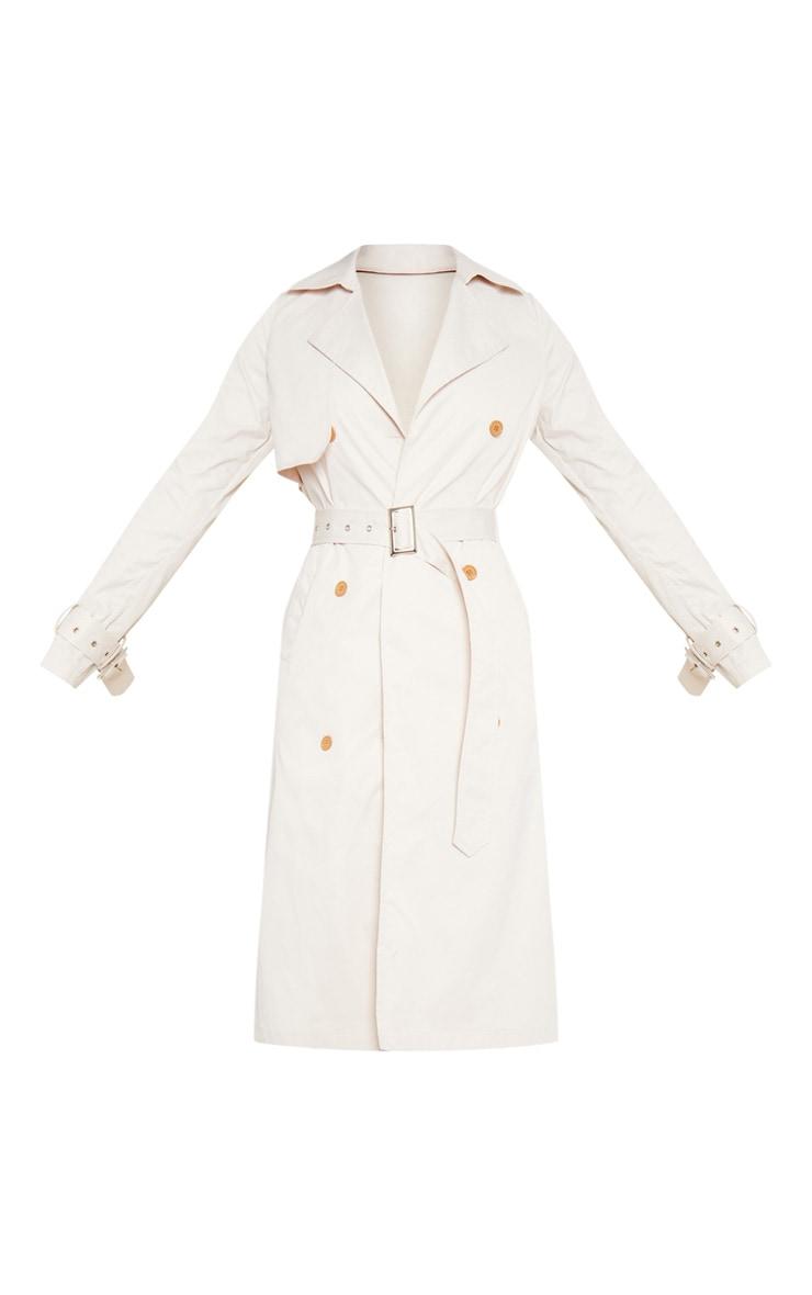 Tall Ivory Trench Coat 3