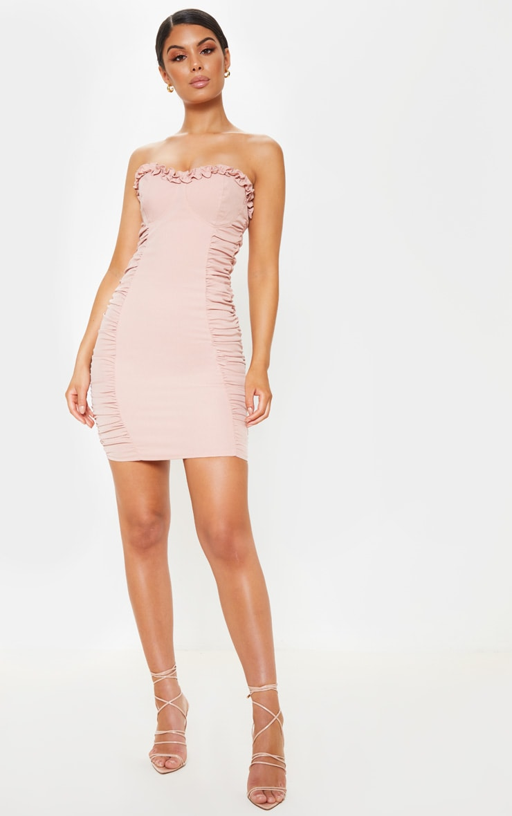 Rose Ruched Bodycon Dress 4