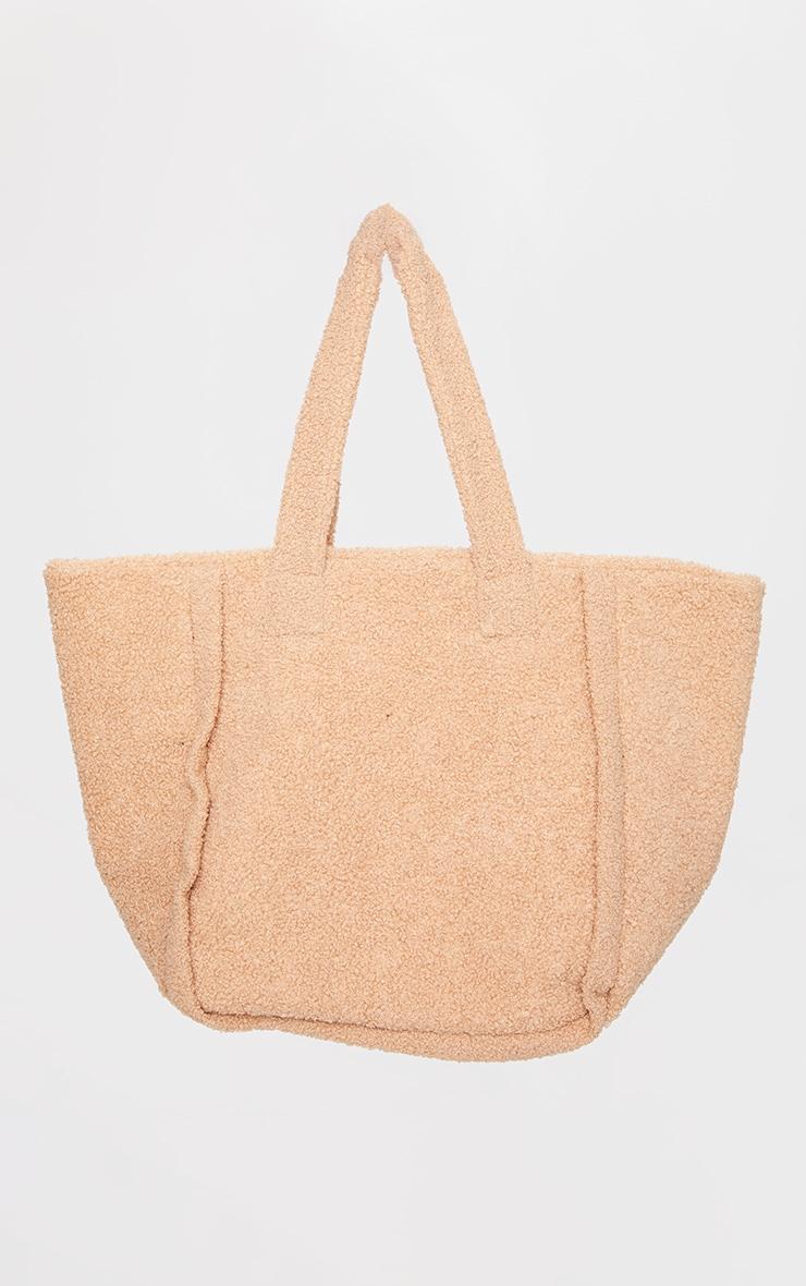 Tan Oversized Borg Tote Bag 2