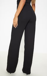 Black Wide Leg High Waisted Trousers 4