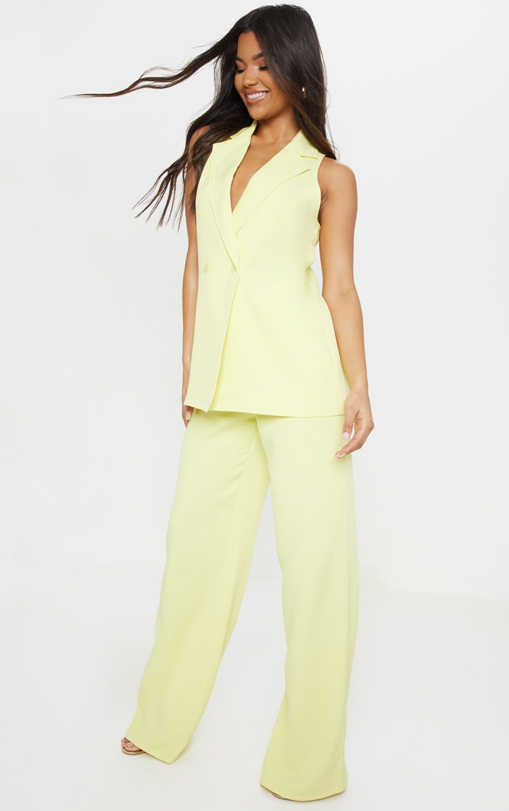 Lemon Wide Leg Suit Trouser