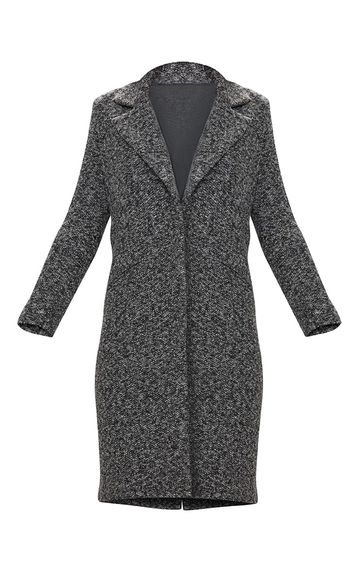 Grey Longline Wool Coat 3