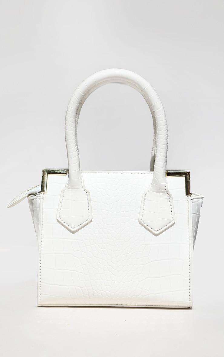 White Croc Mini Grab Bag 1