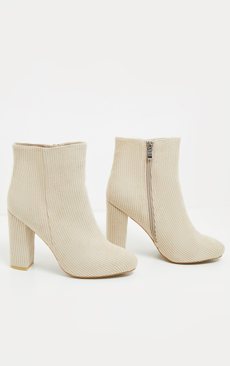 Cream Cord Behati Ankle Boot 3