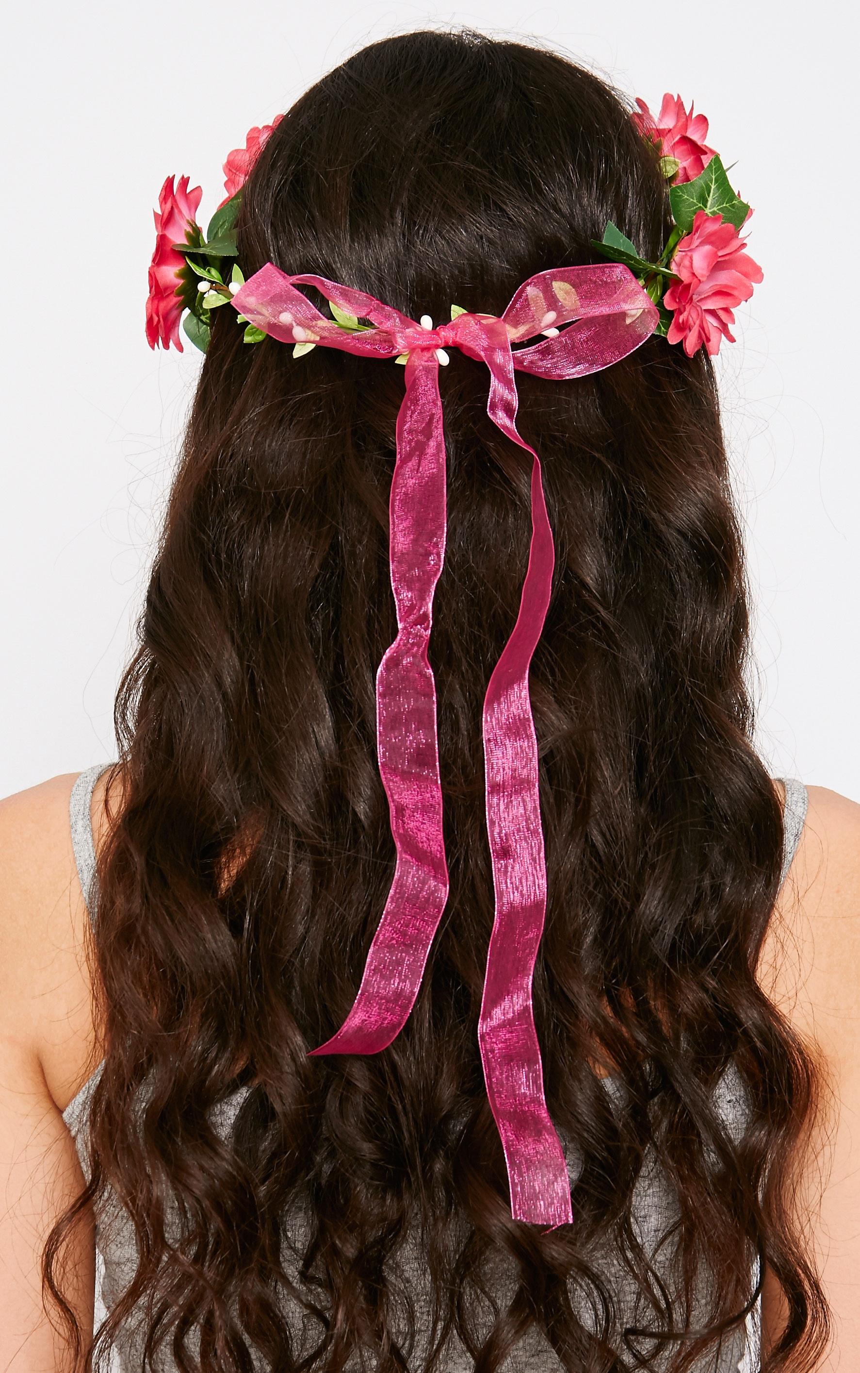 Jody Red Daisy Hair Garland 3