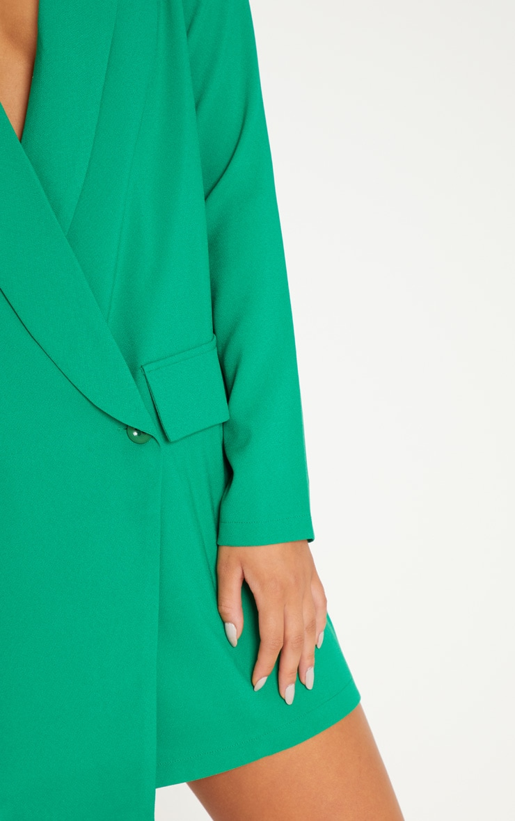 Green Asymmetric Hem Oversized Blazer Dress 5