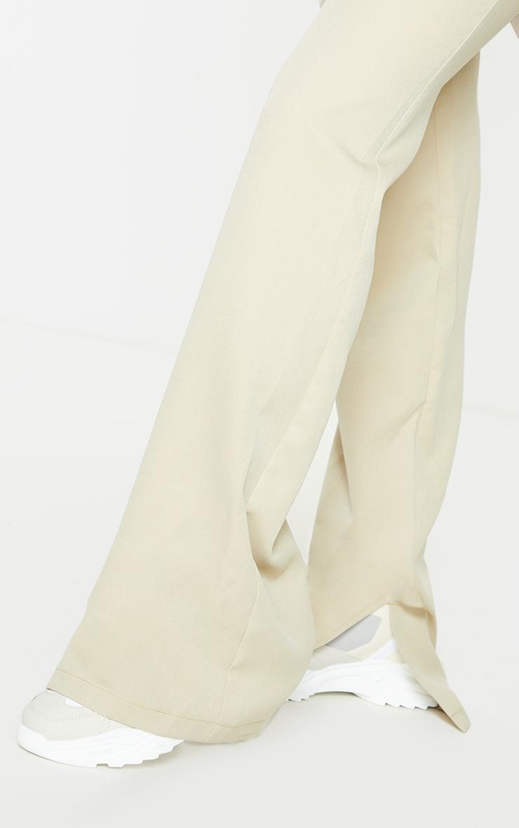 Sage Green Split Hem Wide Leg Suit Trousers 4