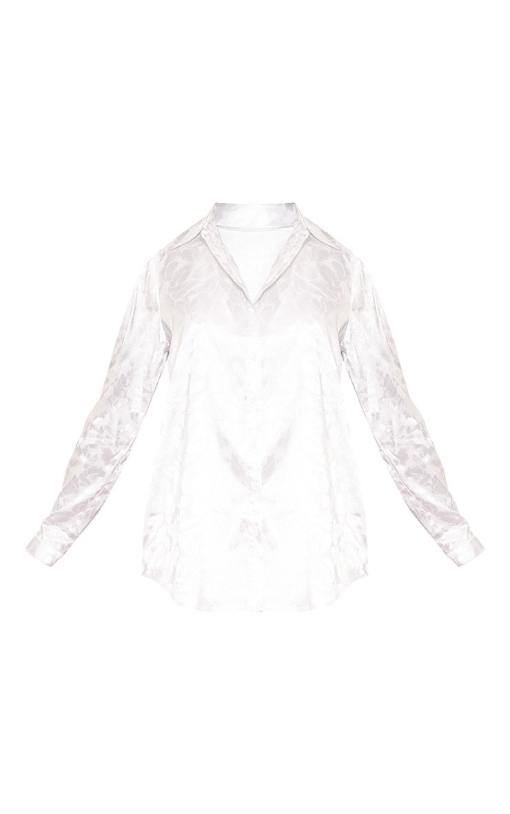Cream Oriental Jacquard Oversized Shirt 3