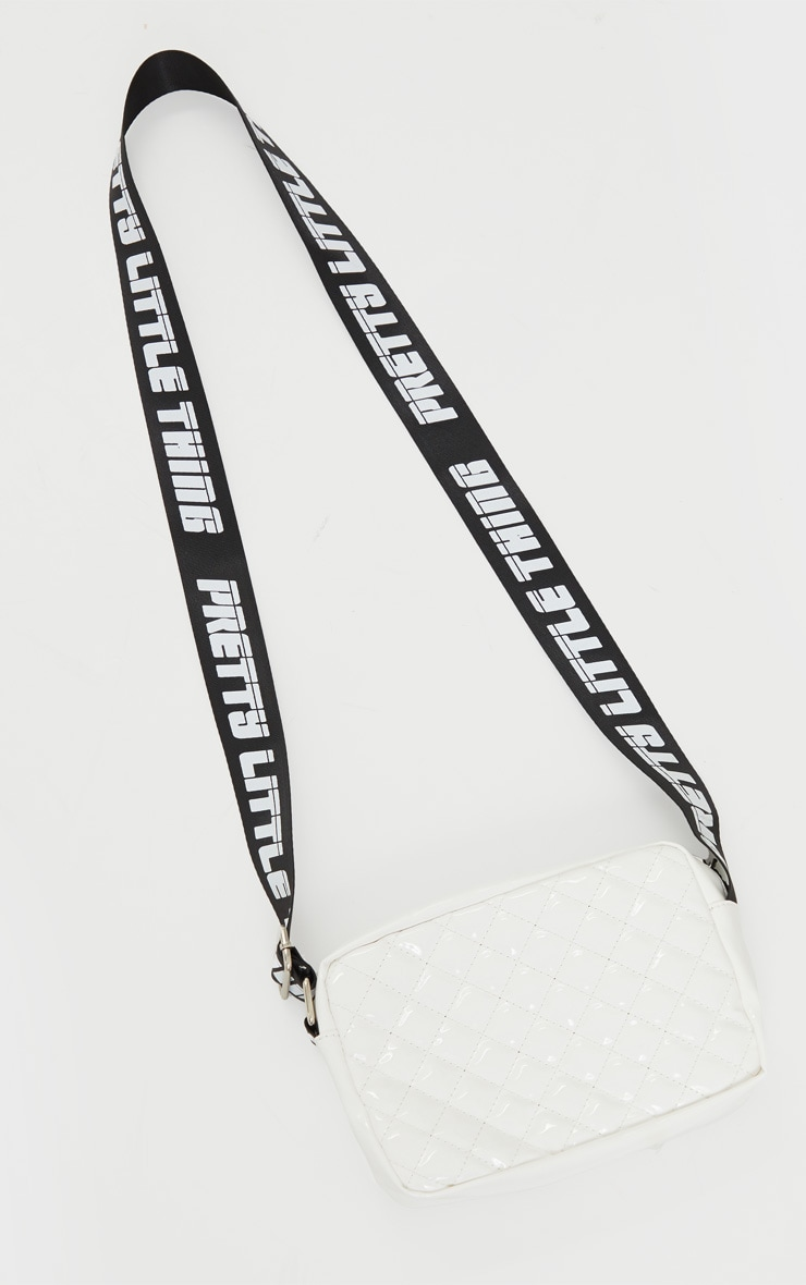 PRETTYLITTLETHING White Shiny Quilted Cross Body Bag 2