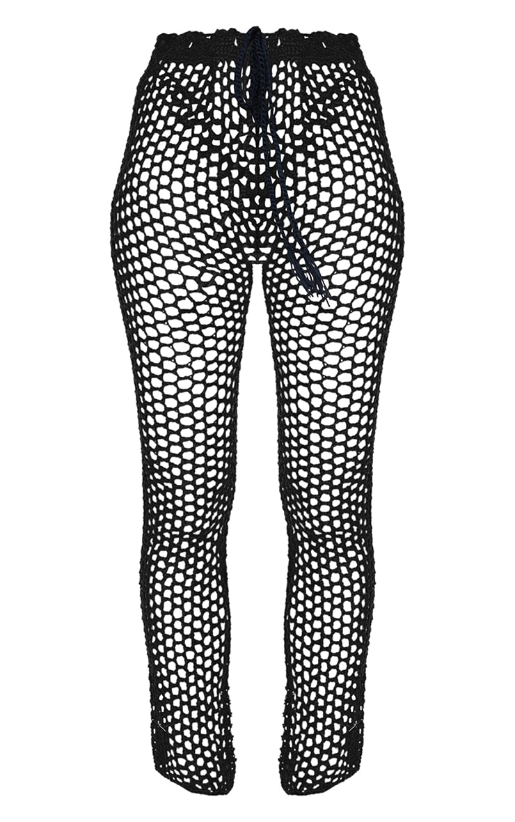 Black Crochet Trousers 5