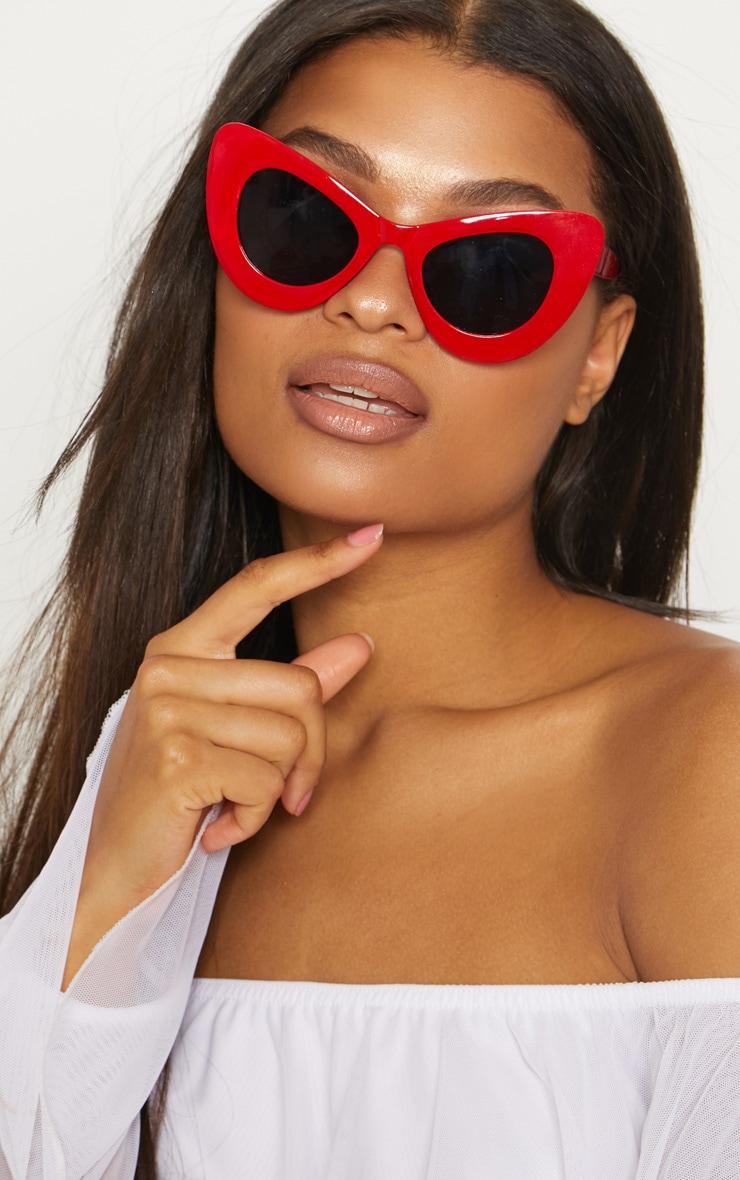 Red Mega Cat Eye Sunglasses 1