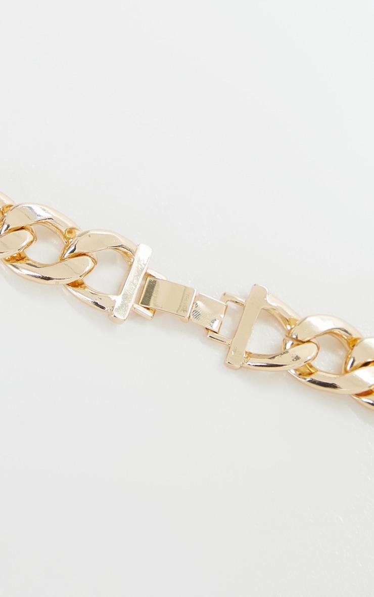 Gold Oversized Chunky Choker 3
