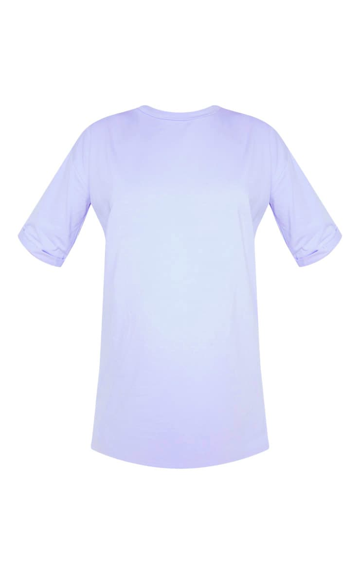 Lilac Oversized Boyfriend T Shirt Dress 3