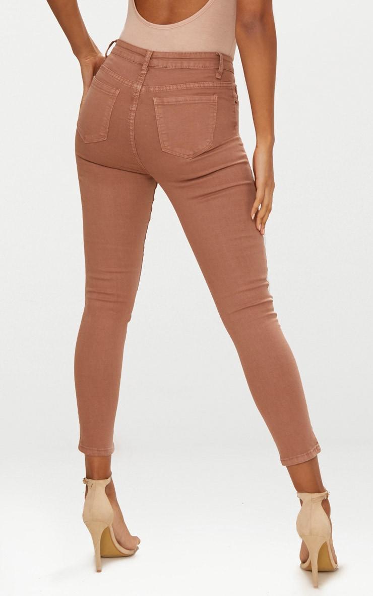 5 Pocket Sand Skinny Jean 4