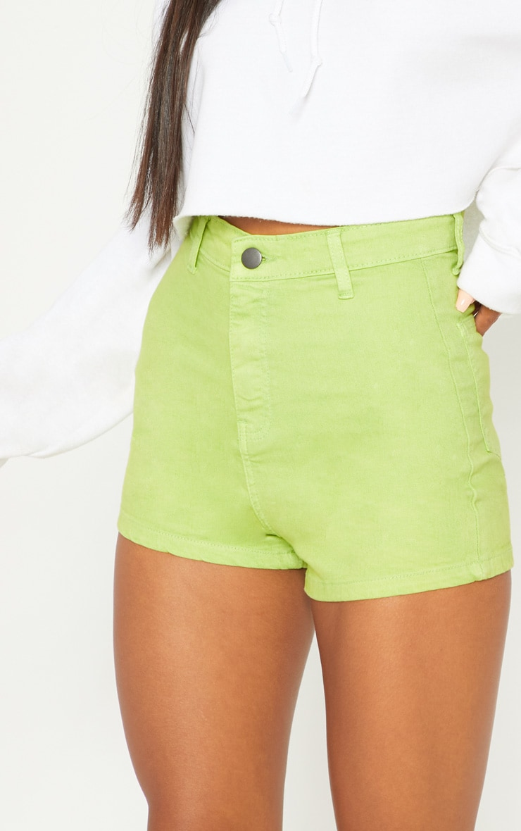 Lime Disco Shorts  6