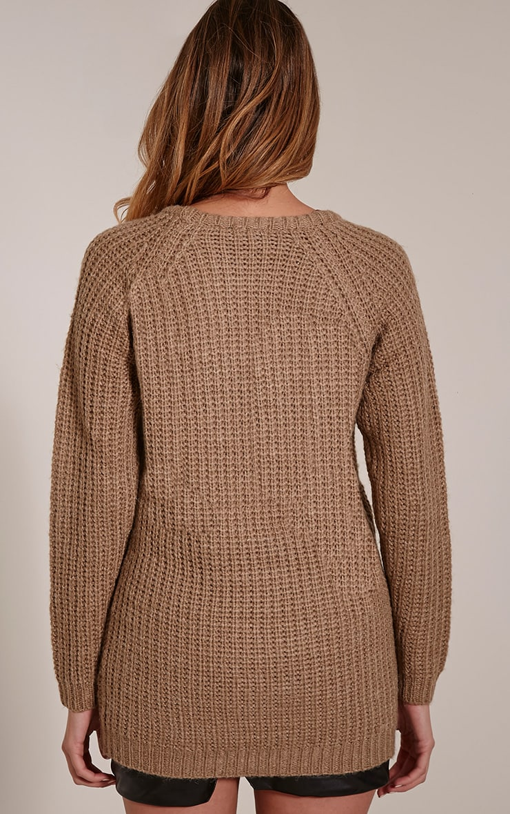 Emily Camel Buckle Detail Knitted Jumper 2