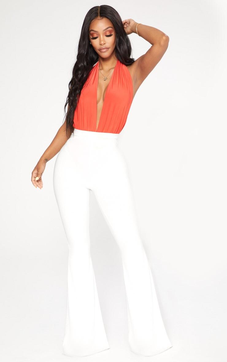 Shape Orange Slinky Halterneck Plunge Bodysuit 5
