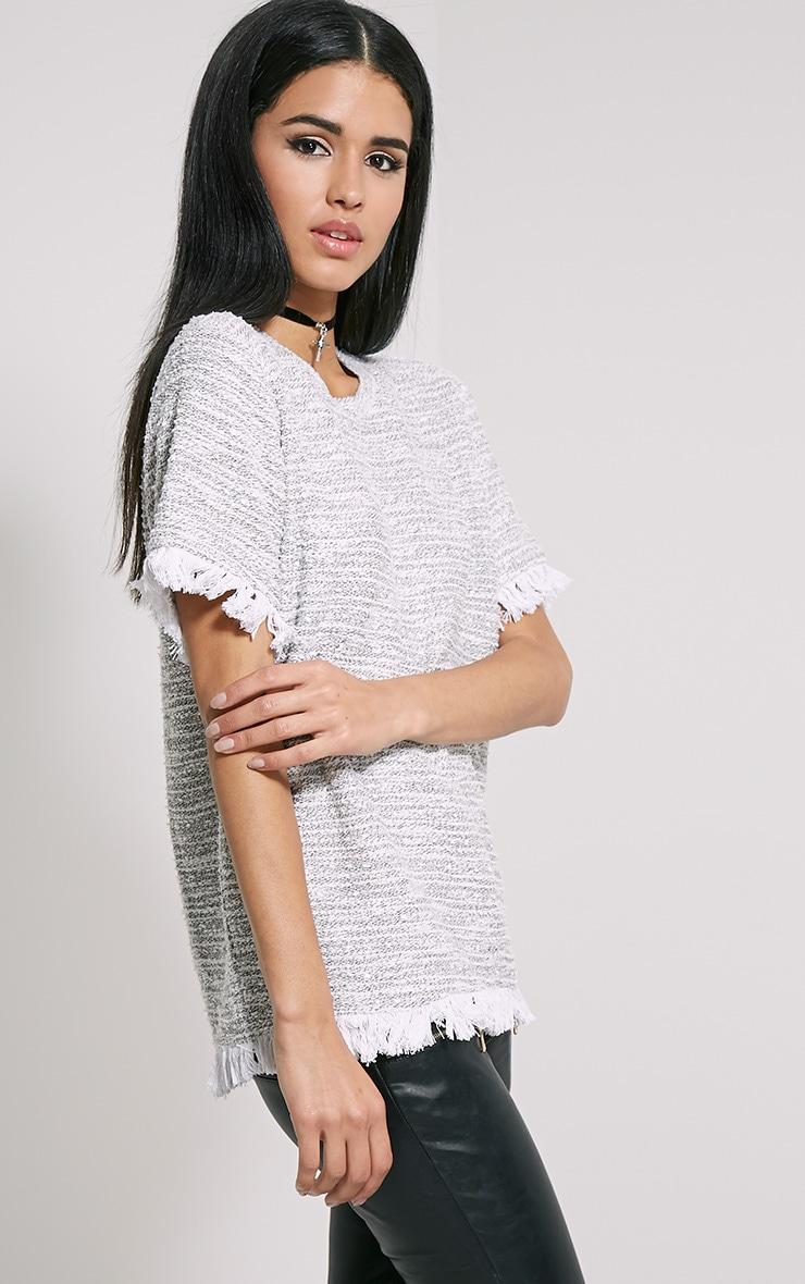Briona Cream Knitted Tassel T-Shirt 4