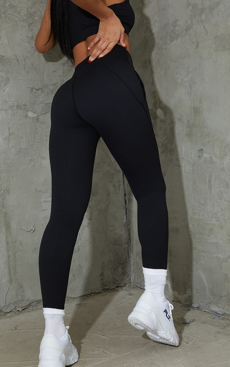 Black Sculpt Luxe Pocket Gym Leggings 3