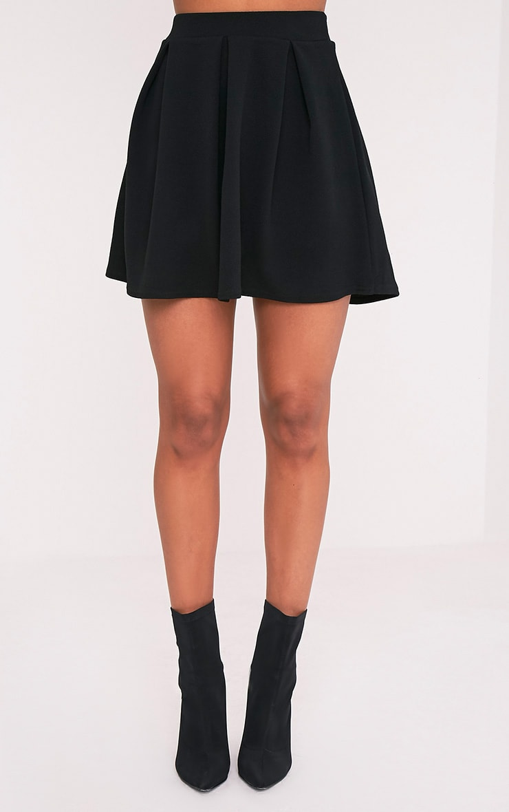 Tyra Black Box Pleat Full Mini Skirt 2