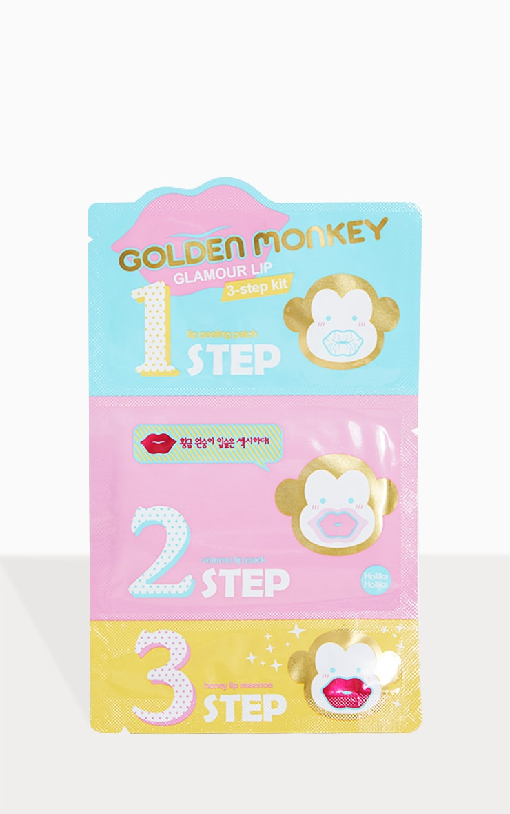 Holika Holika Golden Monkey 3 Step Lip Plumping Kit 1