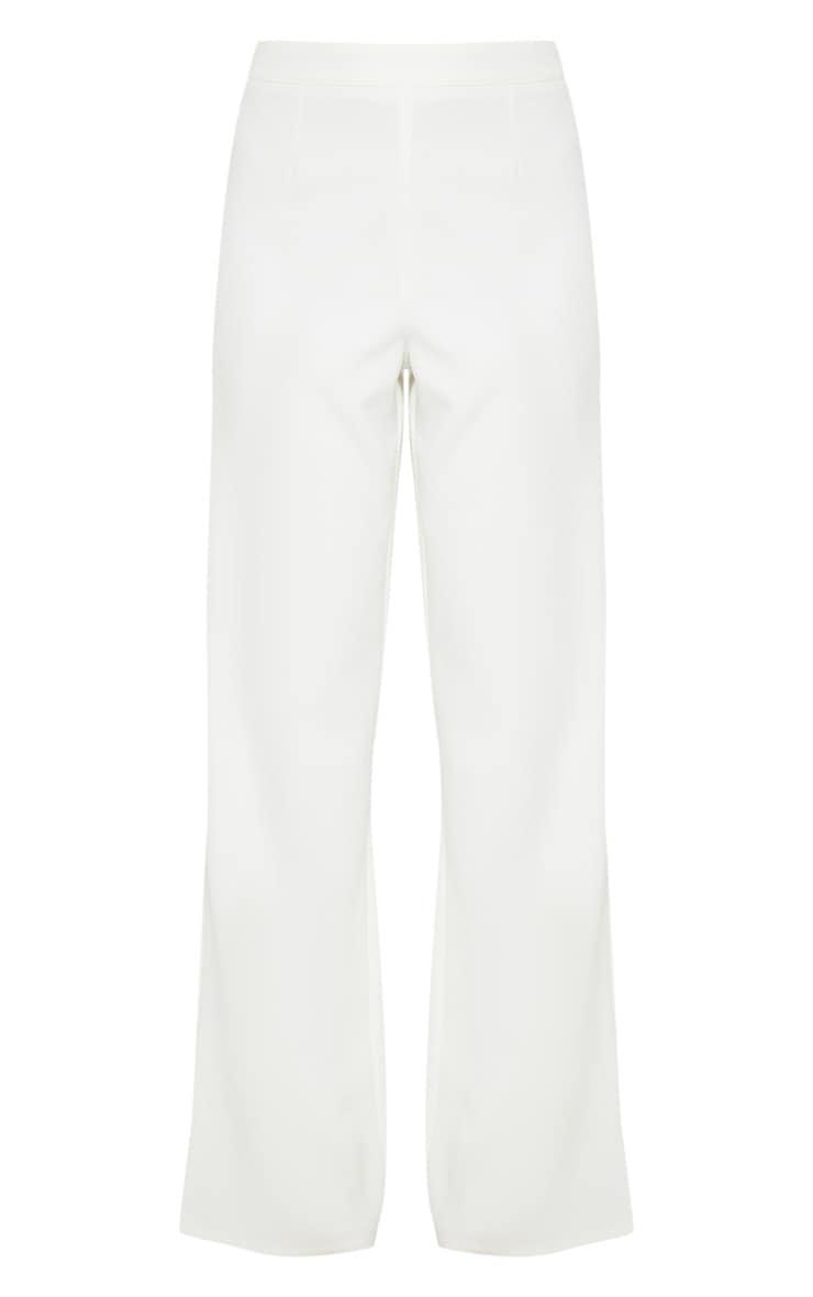 White Wide Leg Suit Trouser  3