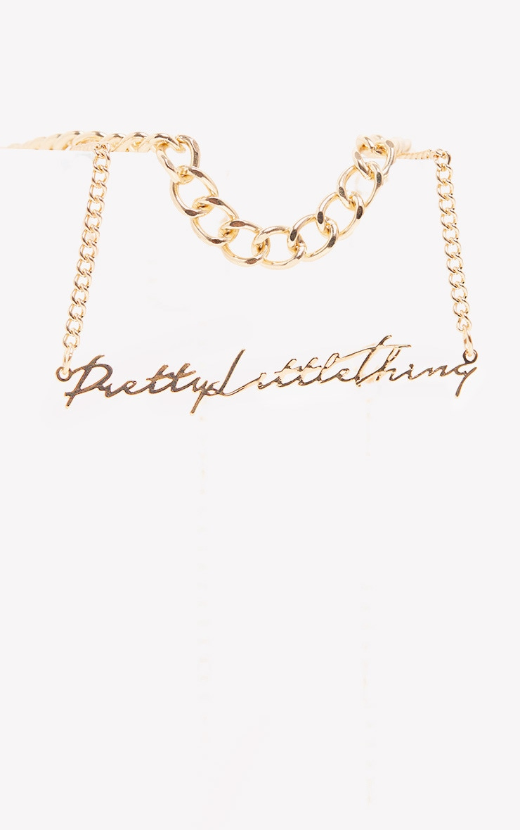 PRETTYLITTLETHING Gold Layering Necklace 4