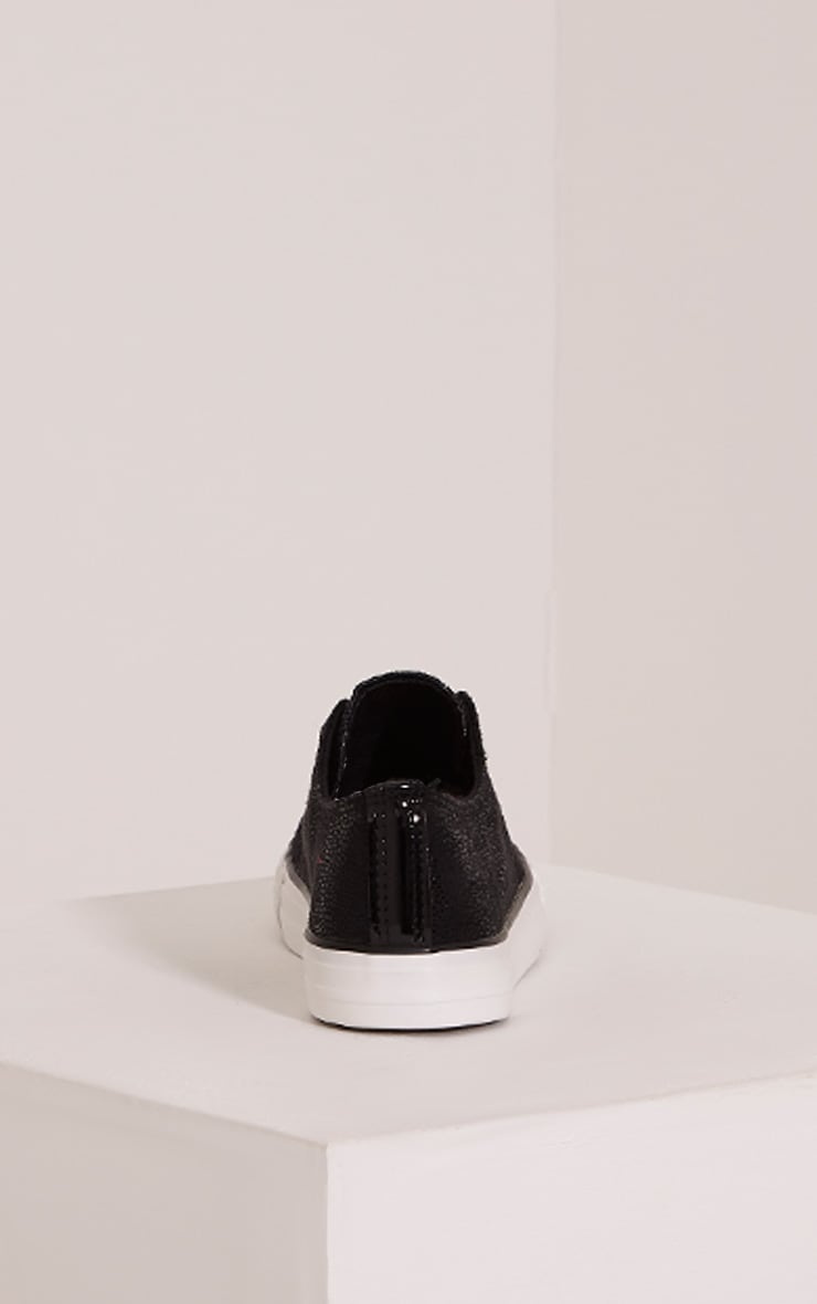 Connie Black Causual Lace Up Trainers 4