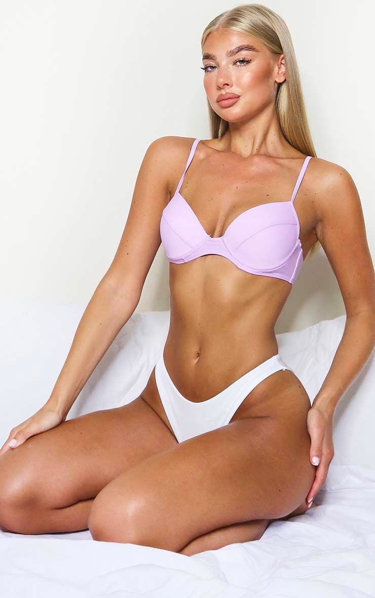 Lilac Mix & Match Push Up Cupped Bikini Top 3