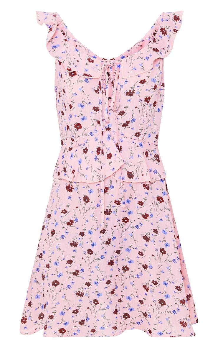 Pink Floral Swing Dress 3