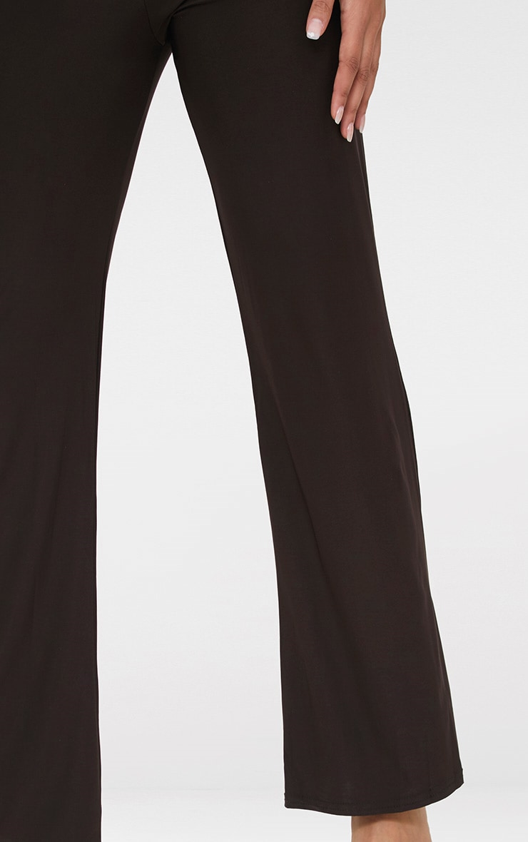 Petite Chocolate Kyleigh Slinky Wide Leg Trousers 4
