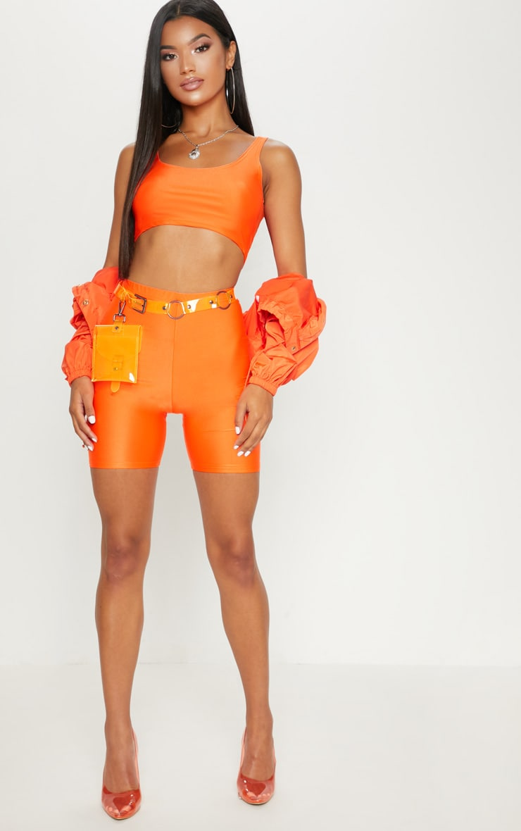 Orange Neon Cycling Shorts 5