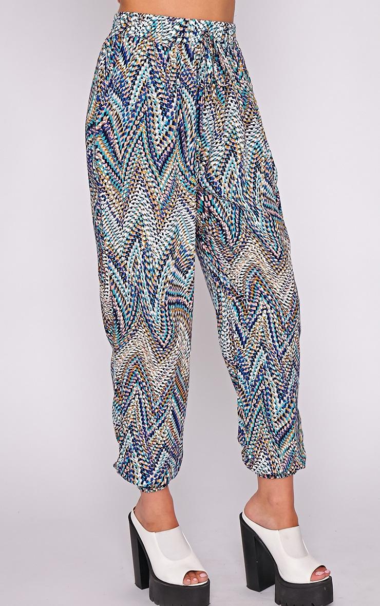 Nahla Blue Print Harem Trouser 4