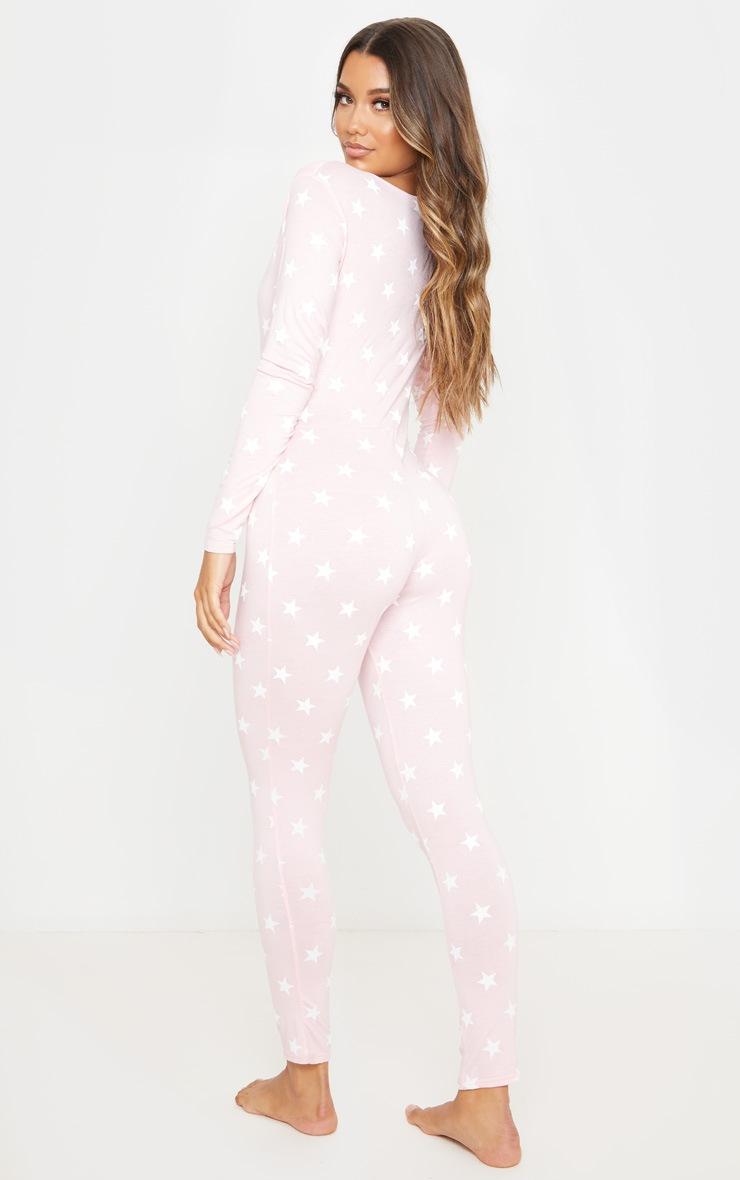 Baby Pink Star Print Onesie 2