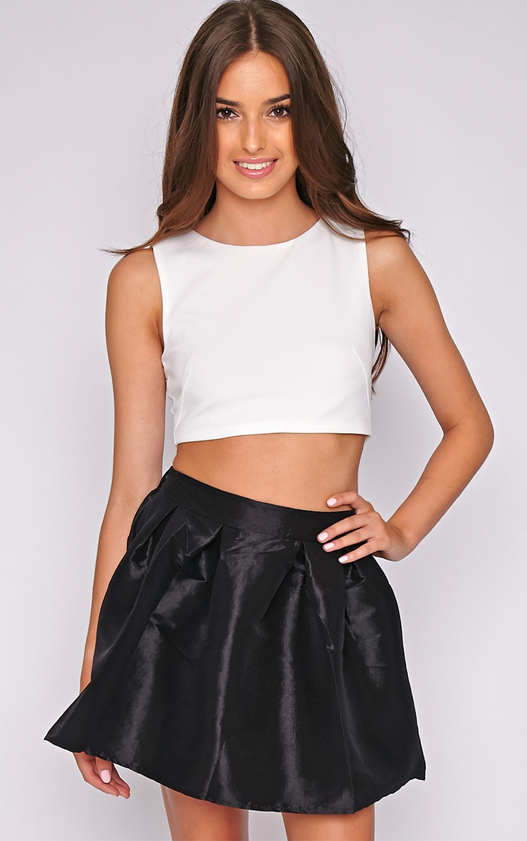 Jemima Black Structured Skater Skirt 1
