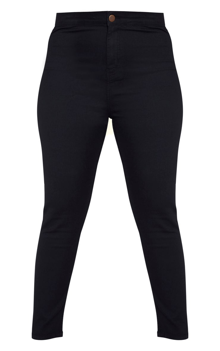 Plus Black High Waisted Super Stretch Skinny Jean 3